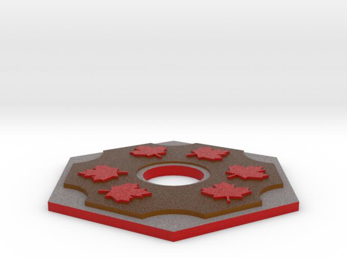 Catan Hex Tile Wood Mapleleaf 79mm 3d printed