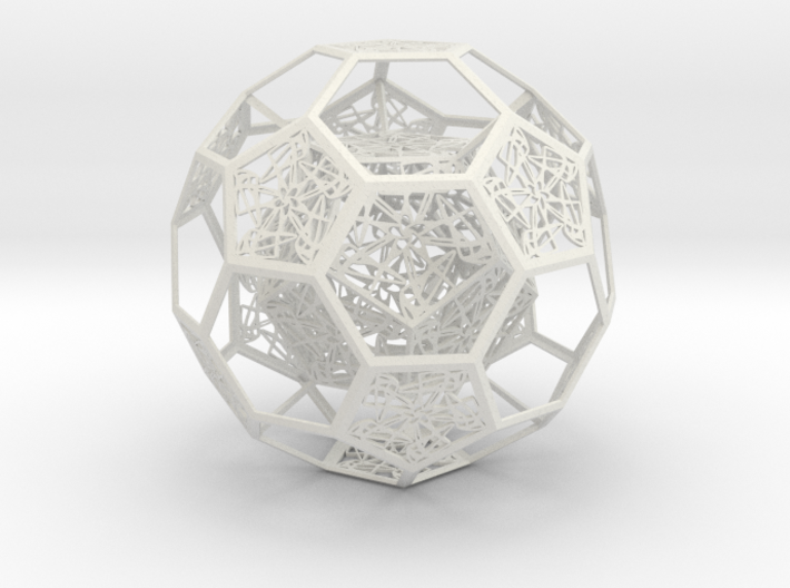 Dodecahedron in Truncated Icosahedron with pentag 3d printed