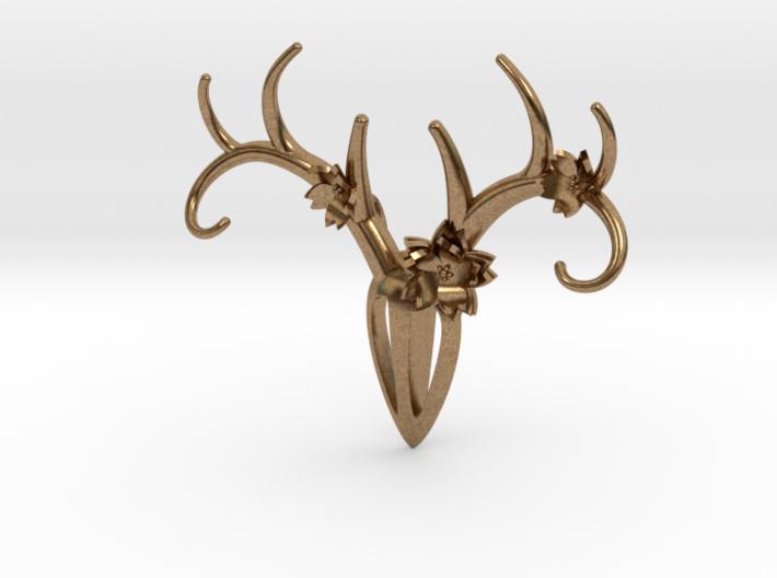 Feminine Antlers Pendant 3d printed