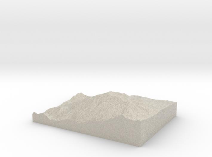 Model of Mount Sopris 3d printed