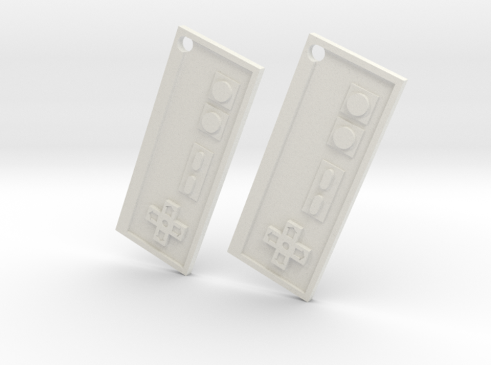 Nes Earrings 3d printed