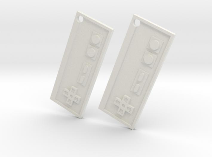 Nes Earrings 3d printed