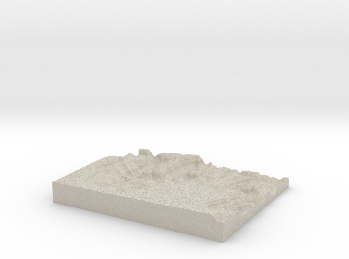 Model of Drummond Plateau 3d printed