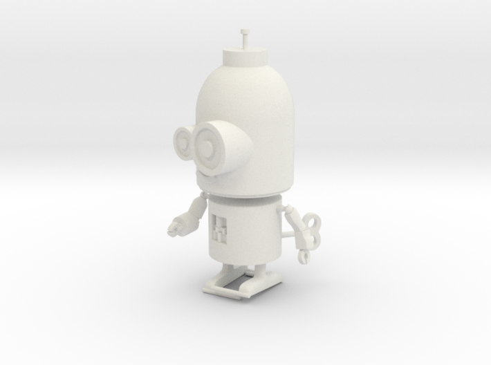Little Wind-Up Copperbot Printing Model 3d printed