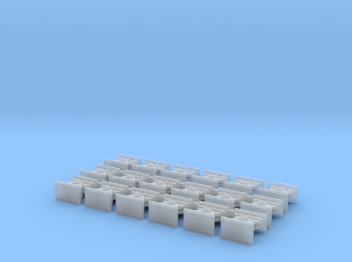 Bridge shoes HO Scale (18) 3d printed
