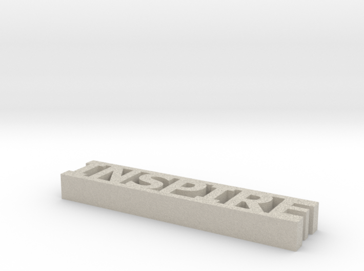 Inspire Word Decor 3d printed