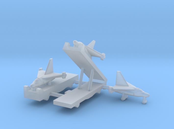 1/600 Experimental Aircraft Set 3 3d printed