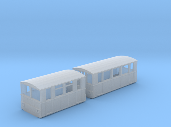 WCPR Railcar Number 1 & Trailer, N Gauge 3d printed