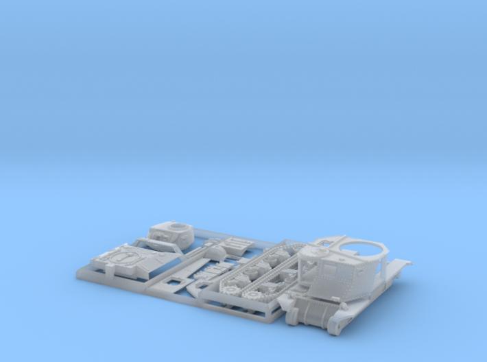 1/144 Cruiser Tank M3 Grant 3d printed