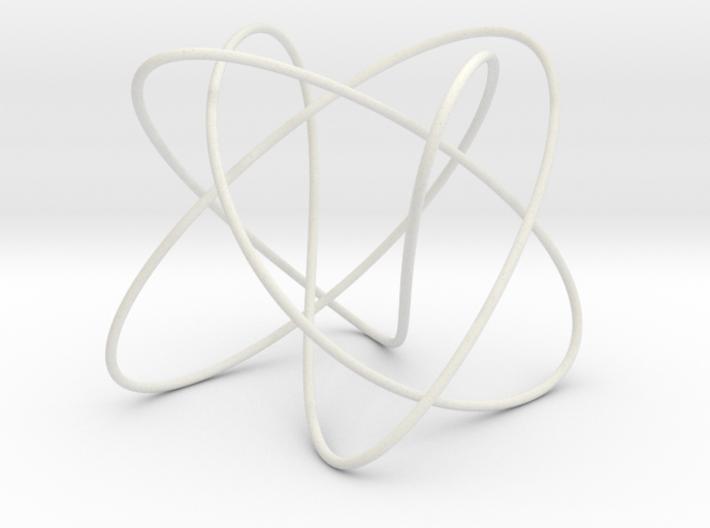 Lissajous (3, 5, 4) (π/2, π, π) 3d printed