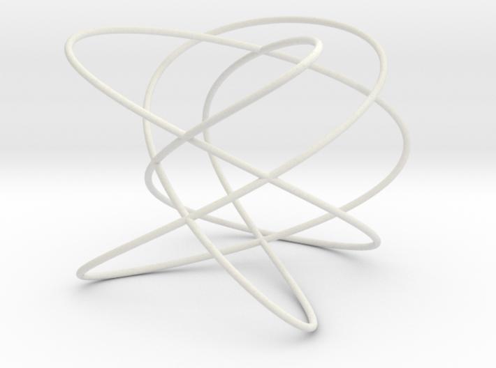 Lissajous (5, 4, 3) (0, π/2, π/2) 3d printed