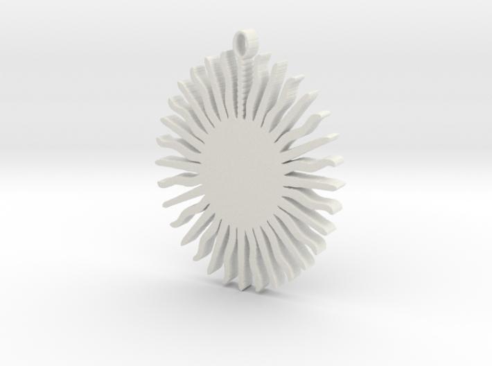 Sun Pendant 3d printed