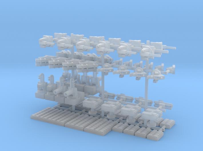 1/600 Modern Naval Weapons Pack 3d printed