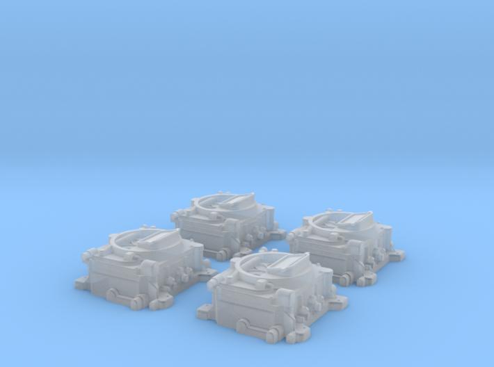 1/12 Carter 4 BBL Carburetors 3d printed