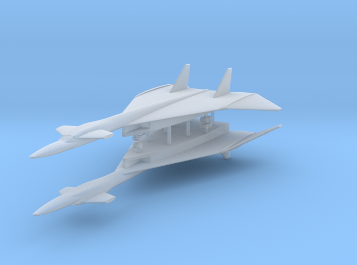 1/600 XB-70A Valkyrie Wings Down (x2) 3d printed