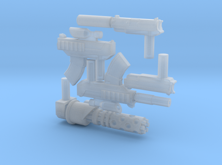 Micro Dunny Hitman Weapons 3d printed