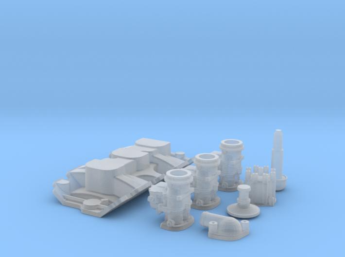 1/25 SBC 3X2 Stromberg Intake System 3d printed