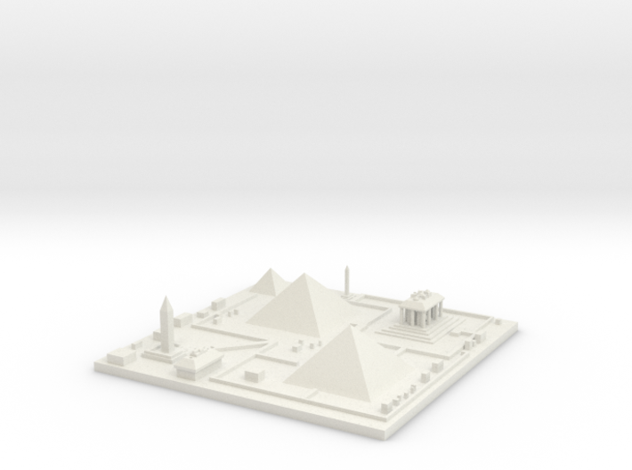 Great pyramids of Giza 7''x7'' 3d printed