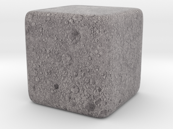 Cube Moon : Luna, 1 inch 3d printed