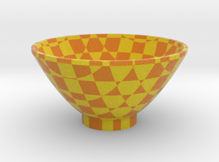 DRAW bowl - cube matrix 3d printed