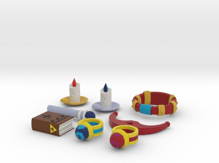 Zelda Fan Art: TLoZ: Quarter Set (3/4) 3d printed