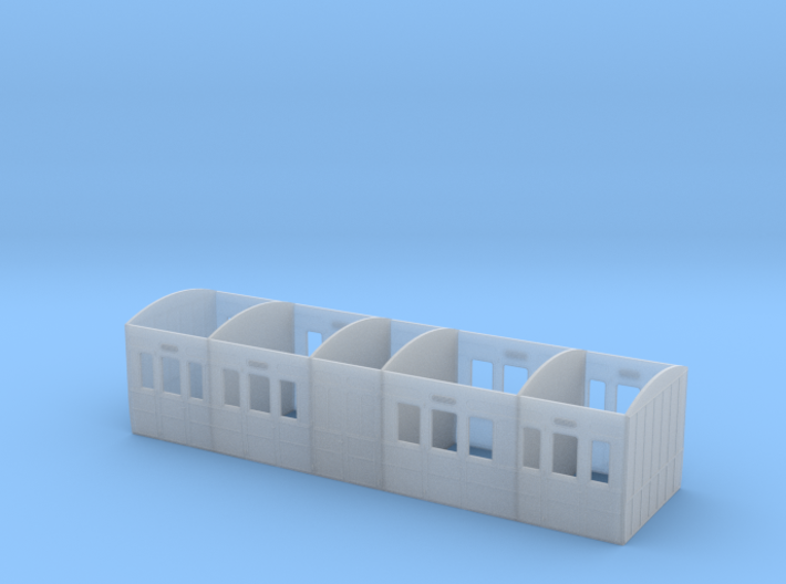 MSLR/GCR Tri-composite Coach body 3d printed
