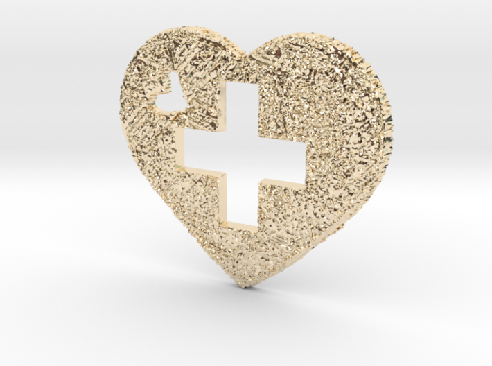 Love Switzerland Heart 3D 50mm 3d printed