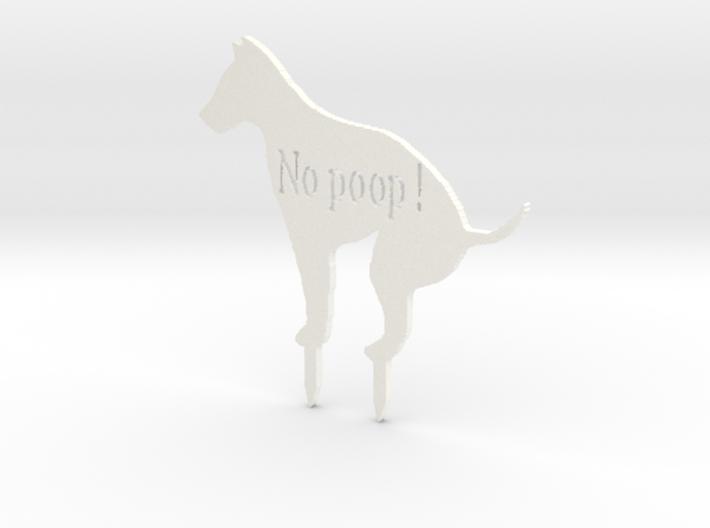 No Poop Stakes 3d printed
