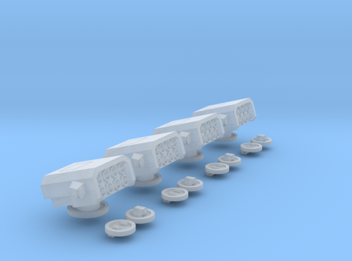6mm Whirlwind Turret Set 3d printed