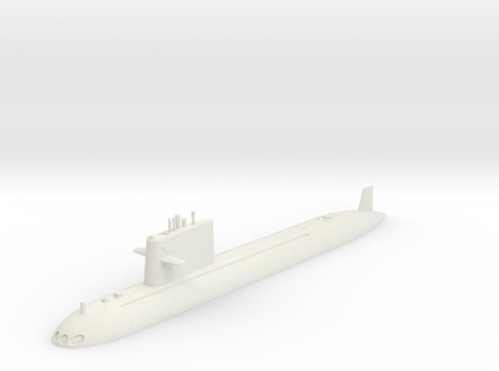 1/700 Type 091 Submarine (Waterline) 3d printed