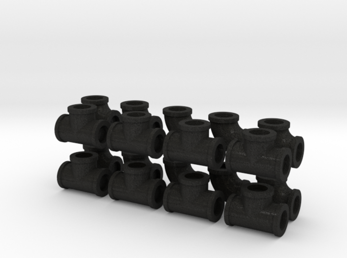 "7/8"" scale pipe fittings: 3"" pipe 3d printed"