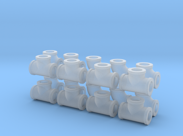 "7/8"" scale pipe fittings: 2 1/2"" pipe 3d printed"
