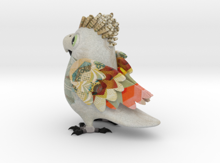 Macaw Painted Shapeways 3d printed