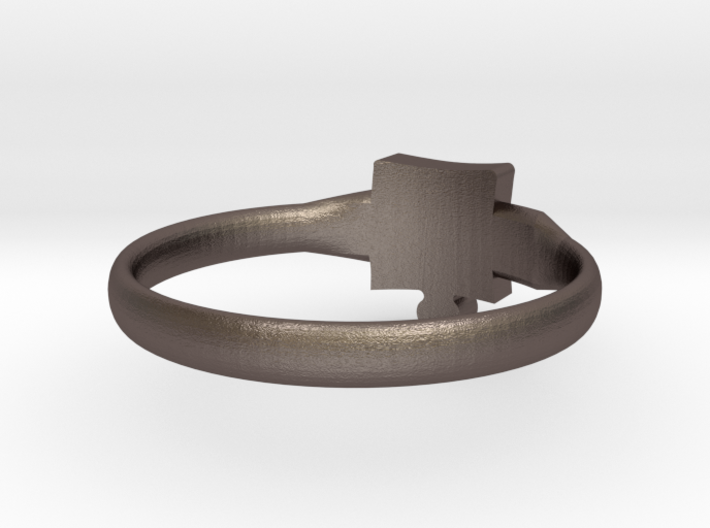 Autism Puzzle Piece Ring - Size 6.5 3d printed