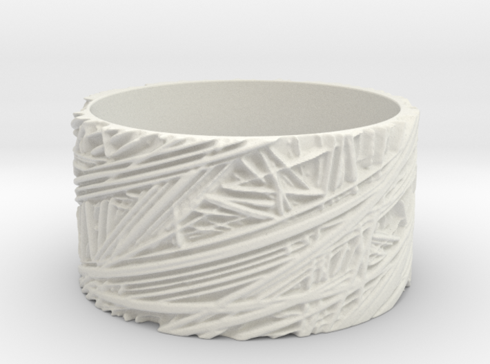 Fibres Ring Size 11 3d printed