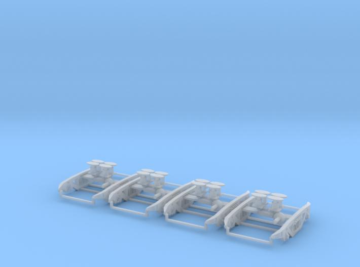 PXA MK2 bogies for PXA bogie box 2 wagons worth 3d printed