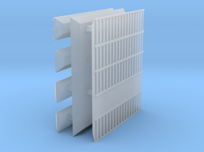 1/600 Shipping Container Stack of 5 3d printed