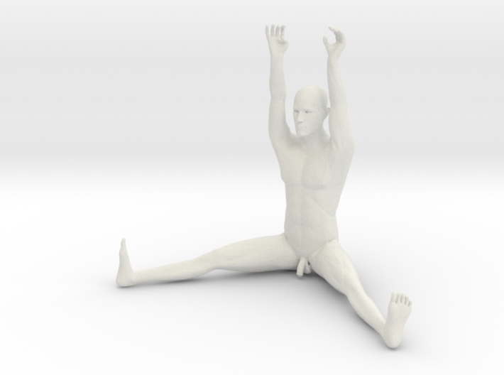The Human Cube - Male element - Naked Geometry 3d printed