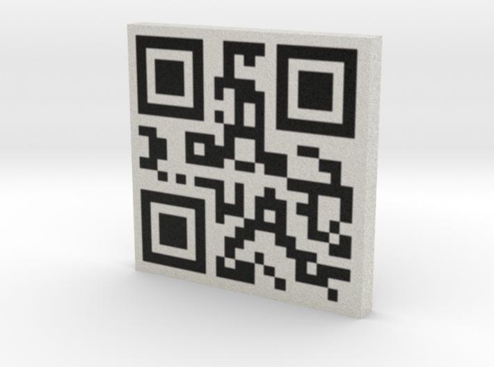 QRCode -- gromfrog.com 3d printed
