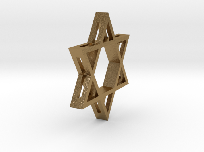 Small Star of David (with Hole) 3d printed