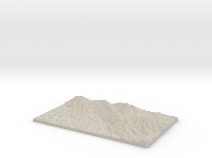 Model of Stinson Beach 3d printed