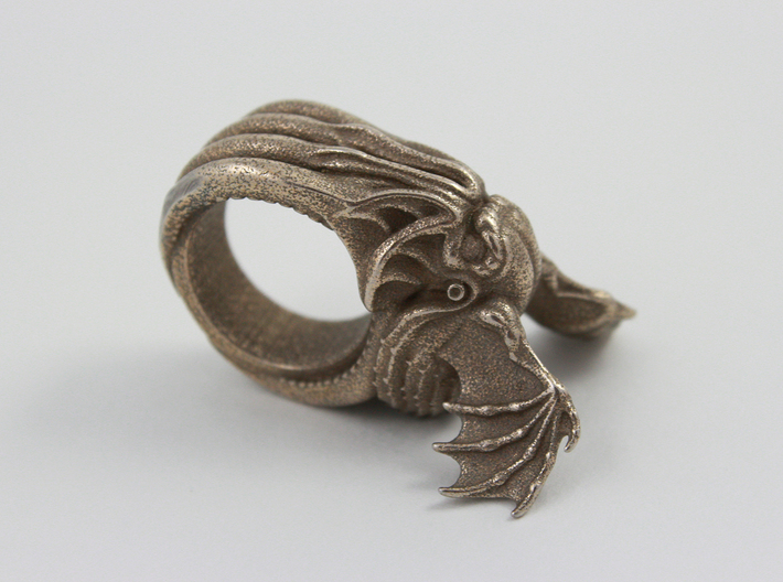 Cthulhu Ring 3d printed Cthulhu Ring - Stainless Steel