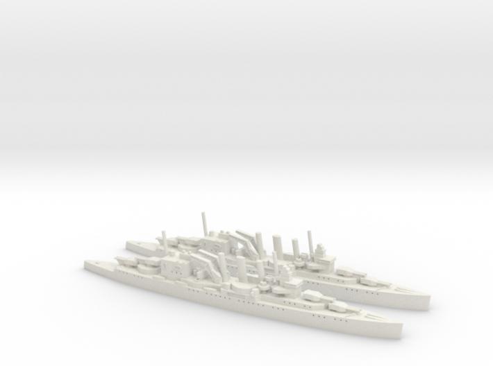 HMS Suffolk 1/1800 x2 3d printed