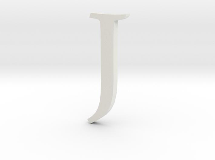 J (letters series) 3d printed