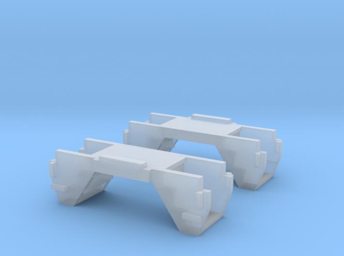 N Scale Budd Silverliner Stepwells 1pr 3d printed
