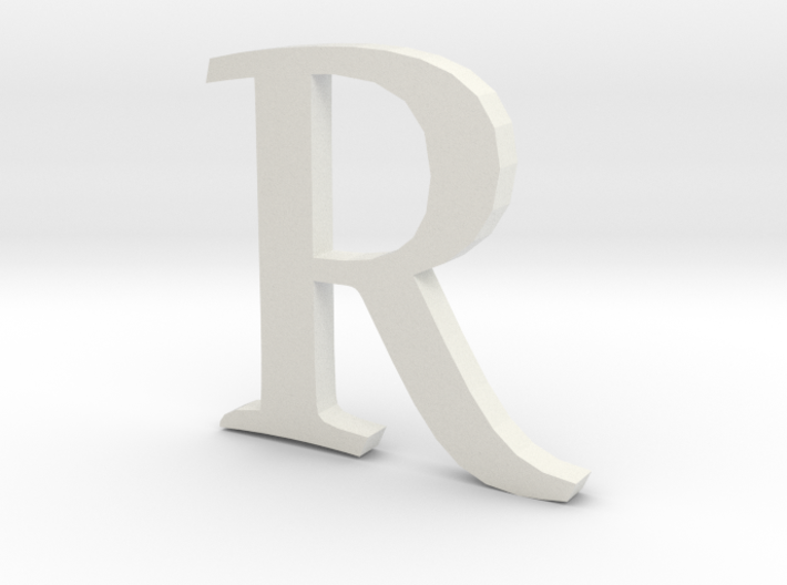 R (letters series) 3d printed