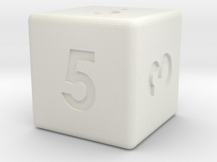 6-sided die (d6) 3d printed