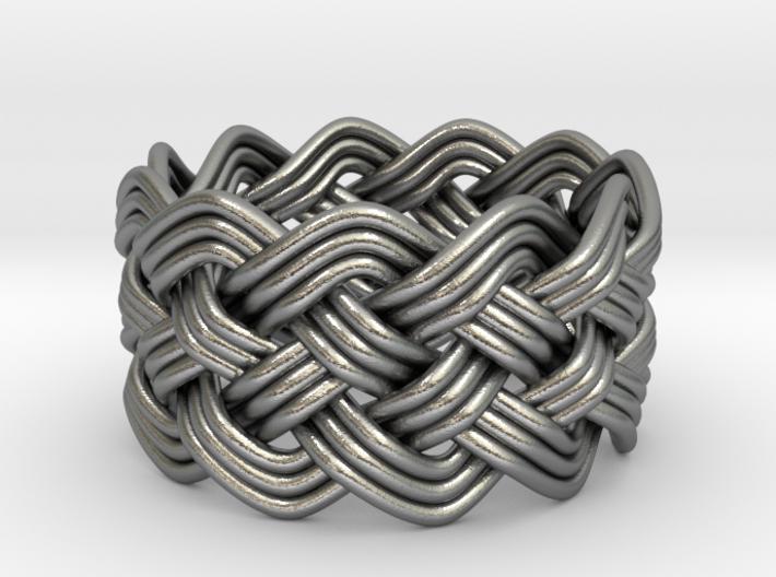 Turk's Head Knot Ring 5 Part X 11 Bight - Size 10 3d printed