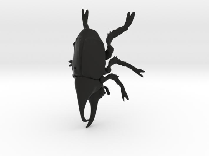 Rhino beetle small with pinhole 3d printed