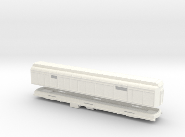 Z Scale Pullman Heavyweight Baggage Car 3d printed